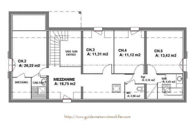 plan de maison en i